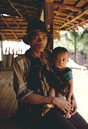 IndonesiaWest Java/Baduy man with son
